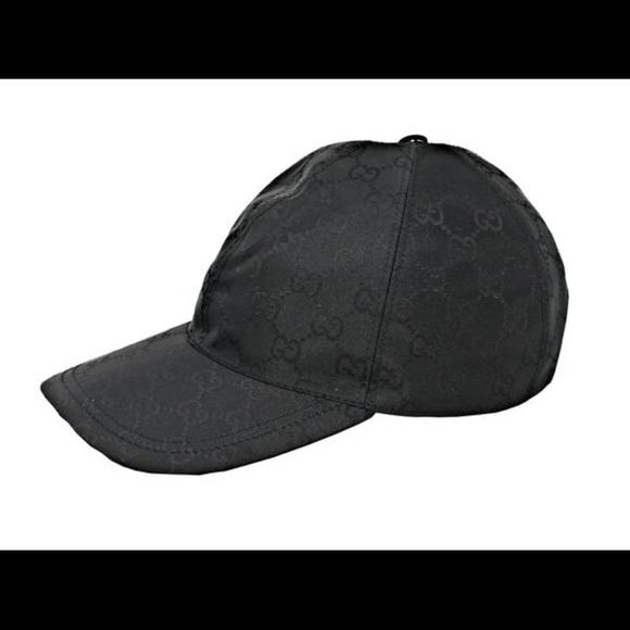 0cad3f46603 Gucci GG Black Baseball Cap w Web Stripe